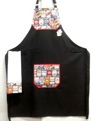 Avental de Cozinha Masculino + Bate Mão-2 peças