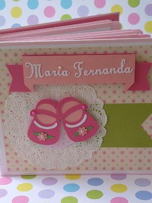 álbum para fotos decorado scrapbook menina personalizado