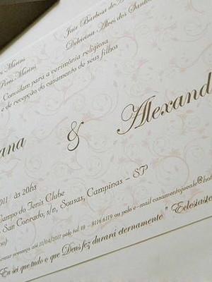 Convite de Casamento - cód A18