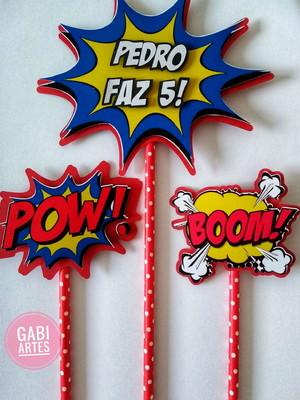 Topo de bolo tema super herois