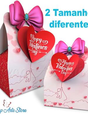 Arquivo de corte Caixa para presente Dia dos Namorados