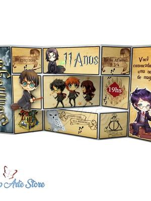 Arquivo Convite Tri Shutter Harry Potter
