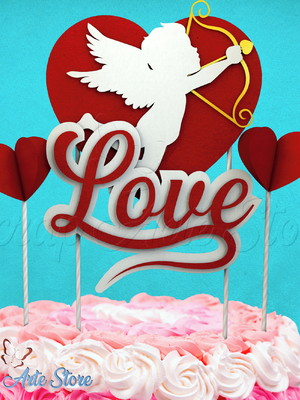 Arquivos de corte Topo de Bolo Cupido Love