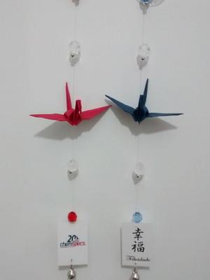 Omamori - Mini móbile de Tsuru