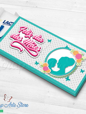 Arquivo de Corte Caixa Barra de chocolate Dia das mães