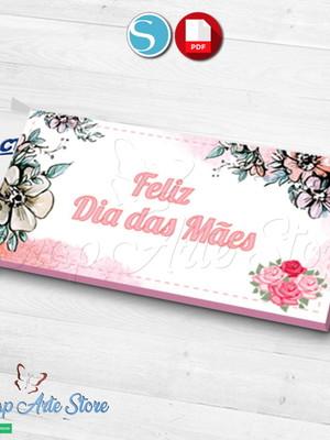 Arquivo silhouette Caixa Barra de chocolate Dia das mães