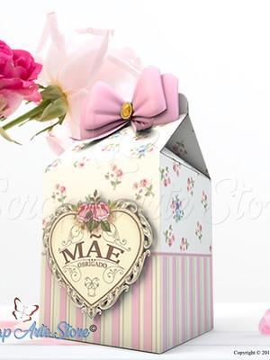 Arquivo silhouette caixa milk Dia das mães