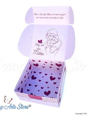 Arquivo de Corte Caixa para doces Dia das mães