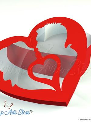 Arquivo de Corte Caixa Coração Dia dos Namorados