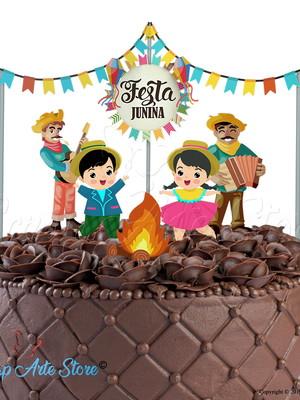 Arquivo para topo de bolo Festa Junina