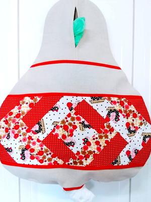 Puxa Saco Patchwork 40 x 34 cm com Base de Tecido Reciclado