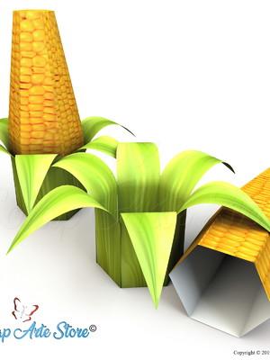 Caixa Espiga de milho Silhouette