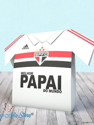 Arquivo de corte caixa Camisa São Paulo