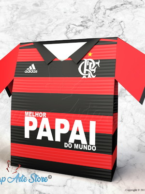 Arquivo de corte caixa Camisa Flamengo
