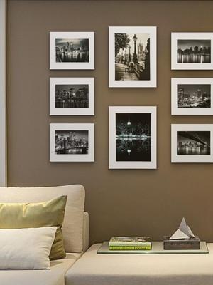 Conjunto com 8 Placas Minimalistas Preto e Branco Cidades
