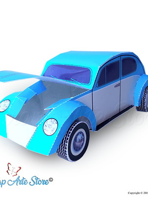 Arquivo de corte caixa FUSCA 3D
