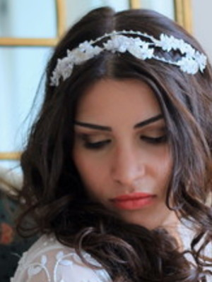 Tiara Floral Noiva Cristal Zircônia Ped