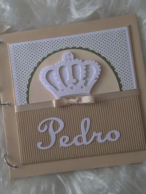 álbum bebê menino scrapbook fotos príncipe coroa nude