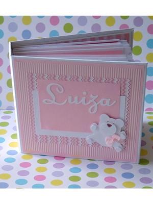 álbum fotos exclusivo decorado scrapbook menina ursa rosa
