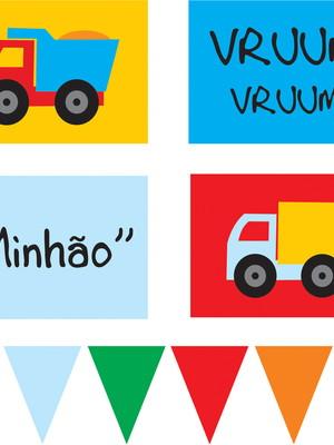 Painel Festa Caminhão (pôster bandeirola) - digital