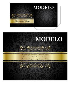 Kit toalete digital preto e dourado para impressão