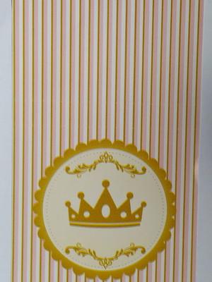 Capa Pirulito Coroa Rosa (10 unid.)