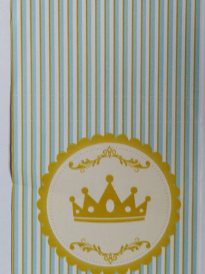 Capa Pirulito Coroa Azul (10 unid.)