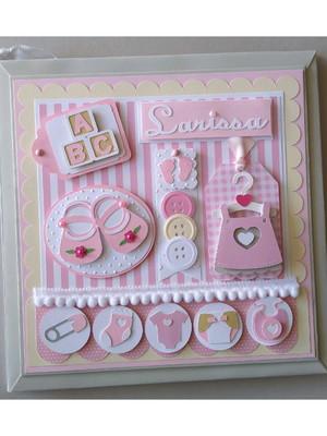 álbum e caixa livro do bebê diário menina fofa scrapbook