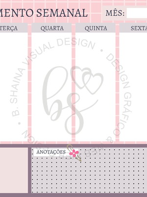 Arte Gráfica Planner Semanal