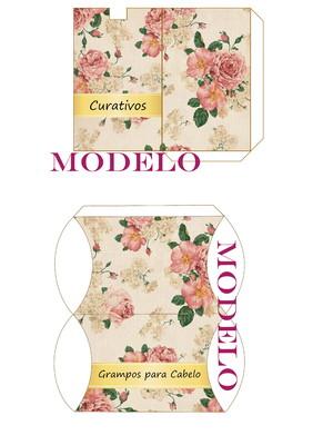Kit toalete digital floral rosa e dourado para impressão