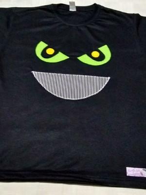 Camiseta Infantil em patchapliquê -Monstro