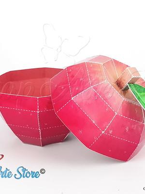 Arquivos de corte Caixa Maçã 3D