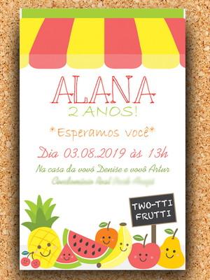Convite Festa Frutinhas - Digital