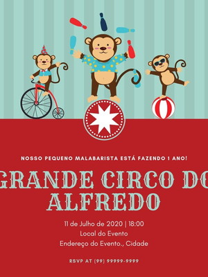 Convite Circo Personalizado - Arte Digital