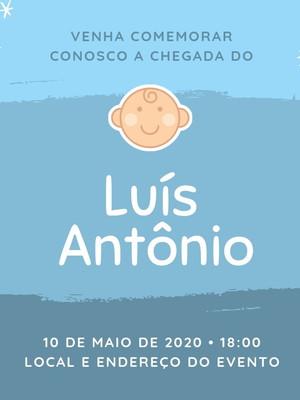Convite Chá de Bebê Personalizado - Arte Digital