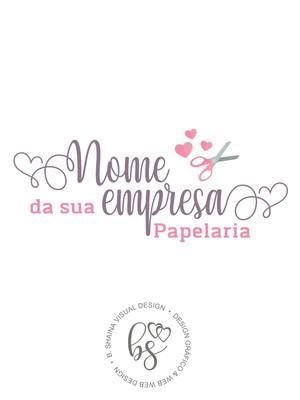 Logo/ Logotipo Pré-Criada Exclusiva Papelaria