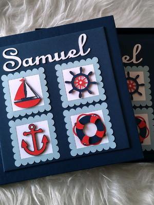 livro diário bebê menino marinheiro náutico personalizado
