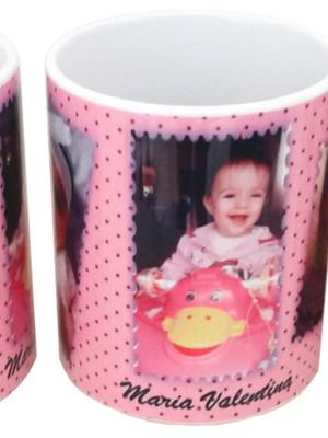 Caneca Personalizada com Três Fotos de Crianças