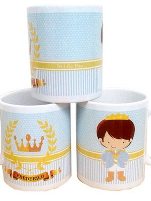 Caneca Personalizada Pequeno Príncipe de Cerâmica 325 ml