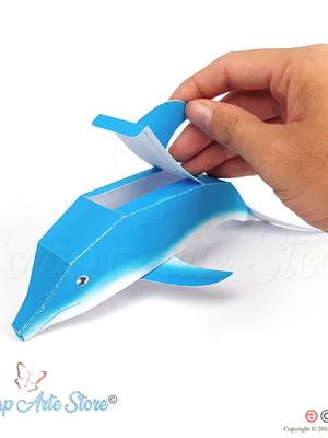 Caixa Golfinho 3D