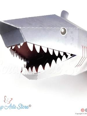 Caixa Tubarão 3D