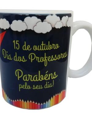Caneca Personalizada Dia Dos Professores Cerâmica 325ml