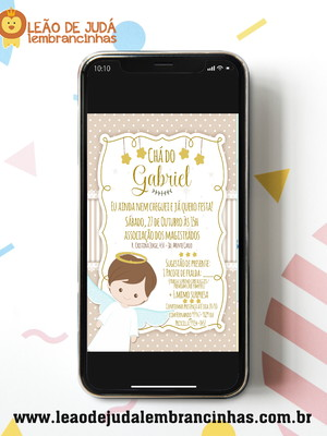 Convite digital CHÁ DE BEBE