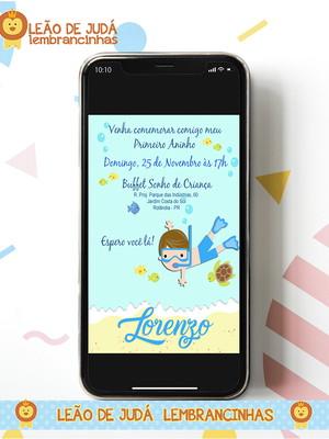 Convite digital FUNDO DO MAR