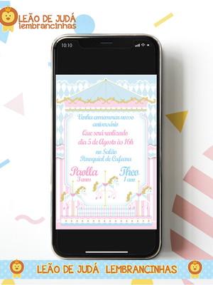 Convite digital CARROSSEL