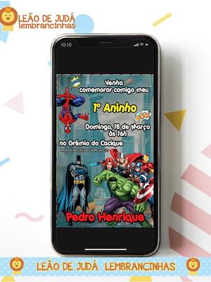 Convite digital HERÓIS