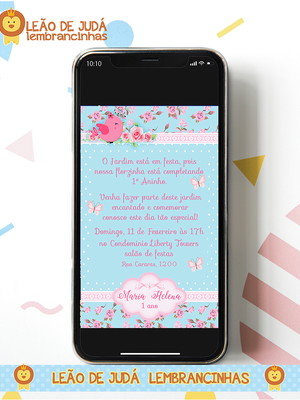 Convite digital JARDIM