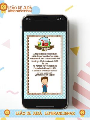 Convite digital FAZENDINHA