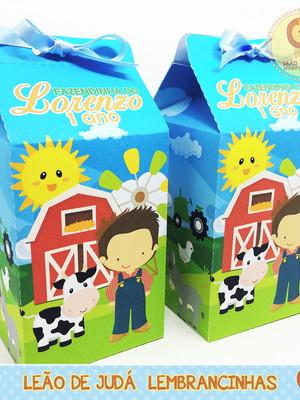Caixinha Milk Fazendinha Menino