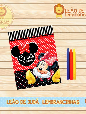 Revistinha para colorir Mickey e Minei